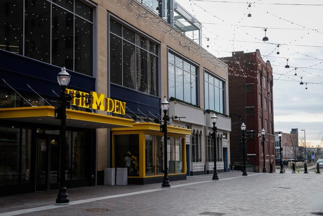 David Hirth, one of the original owners of the beloved University of Michigan retailer The M Den, died Saturday, Jan. 11, 2020, according to an obituary. A newly opened M Den is shown on the alley between Fox Theatre and Little Caesars headquarters in downtown Detroit, Thursday, Dec. 5, 2019.