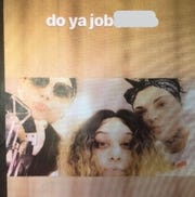 "Social media post, allegedly made by three female Felony Lane Gang members,  who police say taunted them on Instagram to ""do ya job."""