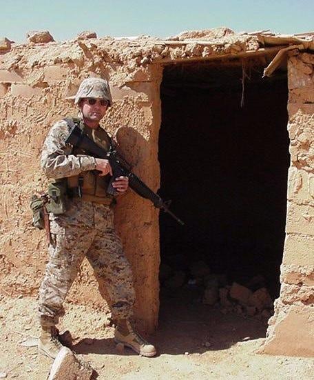 Paul Whelan in an undated photo in Iraq.