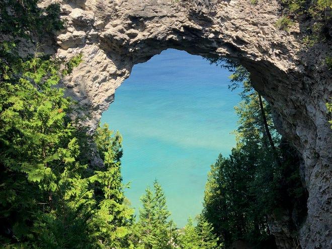 Arch Rock on Mackinac Island.
