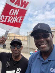 Gerald Kariem joined Local 668 on the picket line for Solidarity Sunday during the UAW strike against GM in 2019.