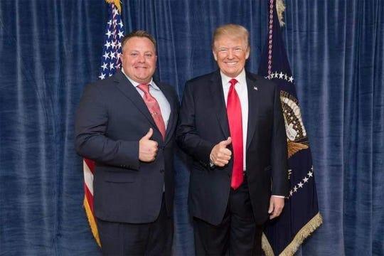 Robert F. Hyde, left, and President Donald Trump.