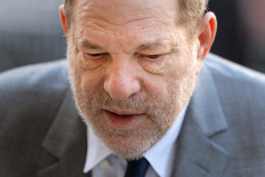 Harvey Weinstein arrives for jury selection in his trial on rape and sexual assault charges, in New York, Wednesday, Jan. 15, 2020.