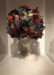 A 2003 hat by Philip Treacy is among more recent (and creative) pieces from the Schreier collection.