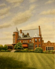 """Bob Ievers' painting of Belhurst Castle will be on display at the First Heritage Federal Credit Union's Corning branch as part of his """"Close to Home Exhibition,"""" which will run through March 20."""