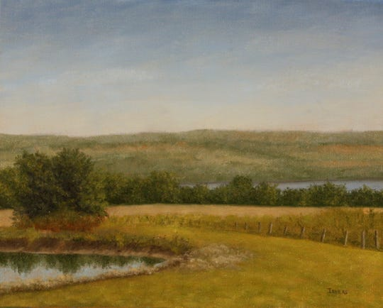 """Bob Ievers' landscape paintings, including this one of Interlaken, will be on display at the First Heritage Federal Credit Union's Corning branch as part of his """"Close to Home Exhibition,"""" which will run through March 20."""