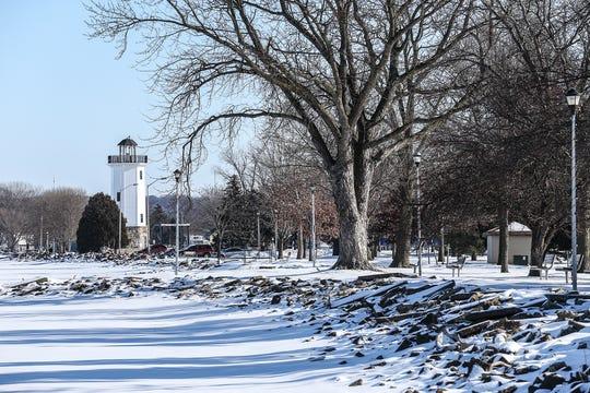 Lakeside Park lighthouse Thursday, January 16, 2020 in Fond du Lac, Wis.