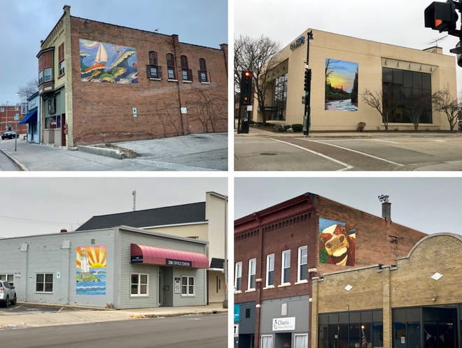 The Downtown Fond du Lac Partnership is asking artists to submit designs to put  murals on buildings. This photo was created by the partnership to illustrate what the murals could look like.