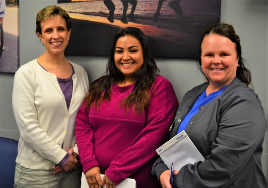 RN and WIC Director Angie Ruth, leift,  WIC breastfeeding peer Zeferina Andrade, center, and RN and WIC breastfeeding coordinator Tanya Halbeisen hope more people who are passionate about breastfeeding will join the Sandusky County Breastfeeding Coaltion.