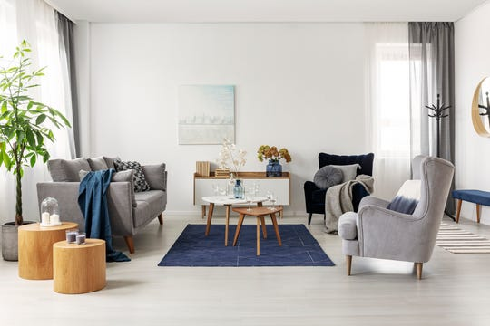 """Build a new look in your living spaces by incorporating Pantone's 2020 color of the year, """"Classic Blue,"""" with your classic and cozy pieces."""