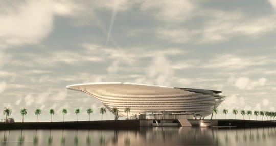Rendering of the new Mote Marine aquarium planned at Nathan Benderson Park.