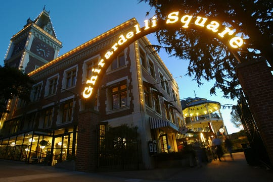 Ghirardelli Square is a popular tourist destination for chocolate lovers visiting San Francisco.