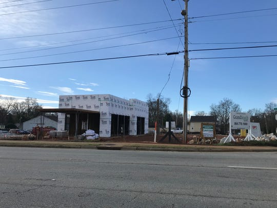 A new Starbucks location is under construction at the corner of Pete Hollis Boulevard and Echols Street in Greenville.