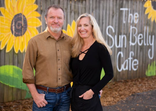 Trent and Deborah Bouts, owners of The Sun Belly Cafe.