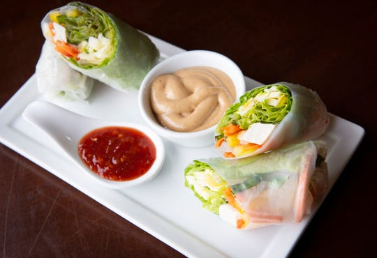 Fresh summer rolls from The Sun Belly Cafe.
