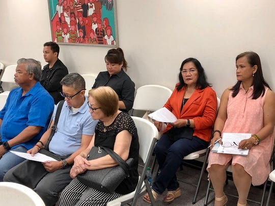 Some potential candidates and their supporters attend the Guam Election Commission's Jan. 16, 2020 meeting, in which commissioners approved the 2020 candidate packets. The packets will be ready for pick up by Jan. 24.