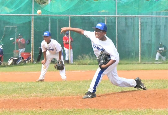 CNMI pitcher Dylan Santos pitches against New Zealand in the WBSC U-15 Oceania qualifier on Jan. 16 at the Paseo Stadium. New Zealand beat the CNMI 20-9 in a five-inning, mercy-rule contest.