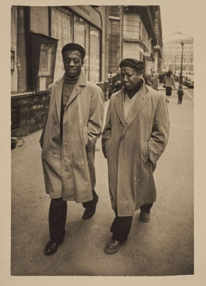 James Baldwin and Beauford Delaney, Paris, circa, 1960.  E