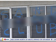 Lux Hookah Lounge on Johnston Street was vandalized with a racial slur, which has since been removed.