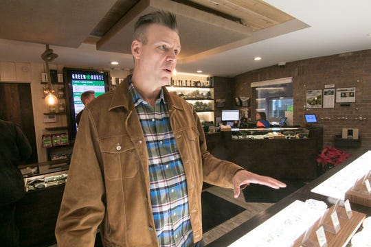 Greenhouse of Walled Lake owner Jerry Millen talks at the business at 103 E. Walled Lake Drive on Thursday, Jan. 16, 2020. Millen would like to expand the business with a location in Livingston County but no municipality in the county currently allows recreational marijuana sales.