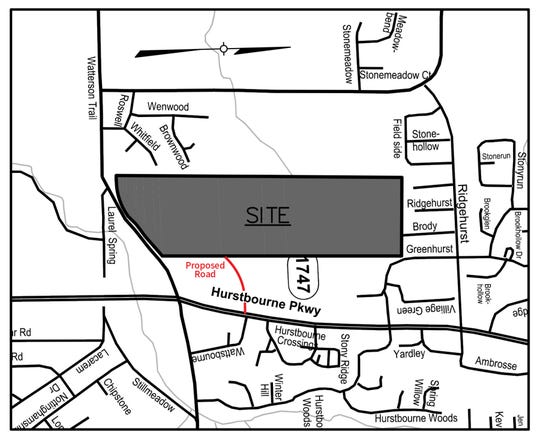 The site location for the proposed Hurstbourne Commons.