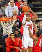 Ohio State junior center Kaleb Wesson shoots a jump shot against Southeast Missouri State earlier this season.