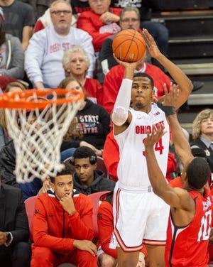 Ohio State junior center Kaleb Wesson shoots a jump shot against Southeast Missouri State earlier this season.