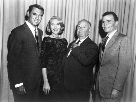 "Director Alfred Hitchcock and stars Cary Grant, Eva Marie Saint and James Mason star in ""North by Northwest,"" which returns Thursday to the Studio on the Square."