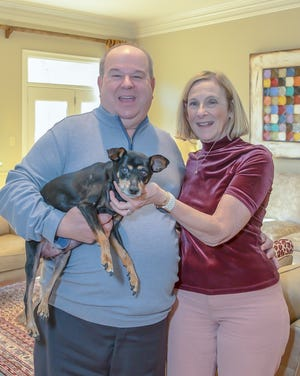 Alan and Millie Katzen in their new home in the Breau Monde area of East Memphis off Humphrey near Shade Grove.