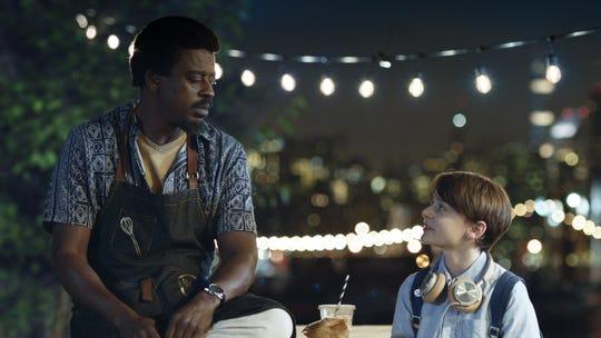 "Brazilian samba musician Seu Jorge and ""Stranger Things"" cast member Noah Schnapp star in ""Abe."""