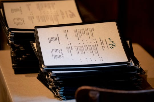 Stacks of menus sit on a table Wednesday, Jan. 15, 2020, at Mr. B's Restaurant in Germantown.