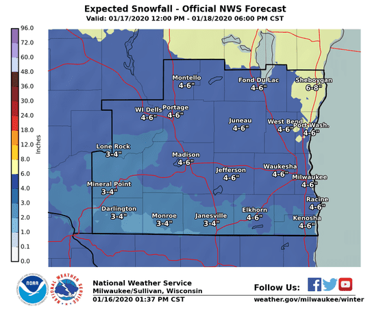 Accumulating snow is expected across southern Wisconsin beginning Friday afternoon.