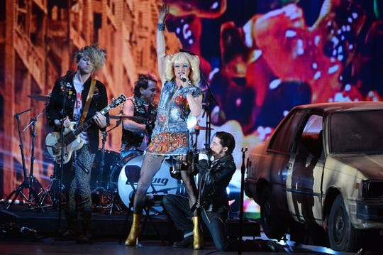 """Neil Patrick Harris and the cast of """"Hedwig and the Angry Inch"""" perform onstage during the 68th Annual Tony Awards on June 8, 2014 in New York City."""