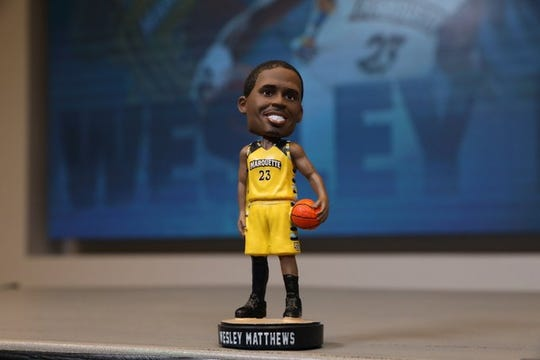Marquette honored Wesley Matthews with a bobblehead on Wednesday night.