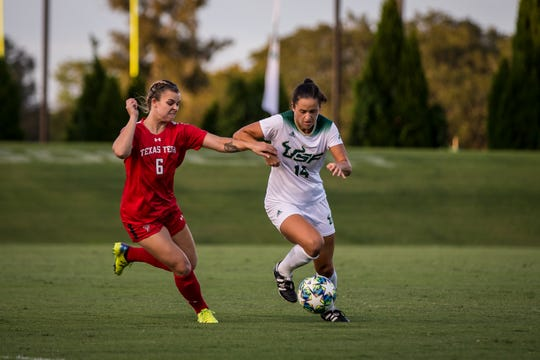Sky Blue FC selected South Florida striker Evelyn Viens in the first round of the National Women's Soccer League College Draft on January 16, 2020.