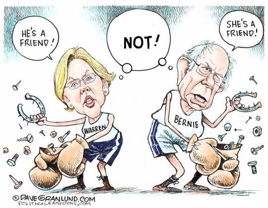 "Warren and Sanders are ""friends."""