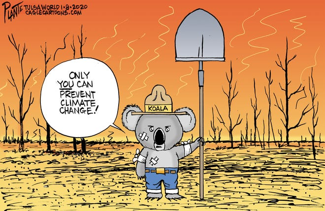 Australia's wildfires and climate change.