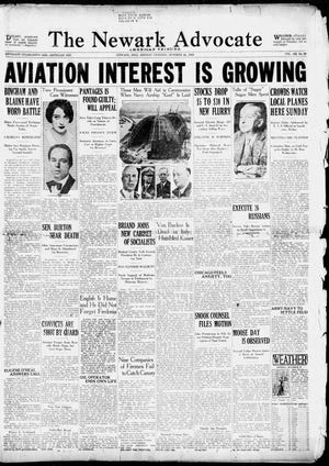 The Newark Advocate from Oct. 28, 1929.