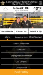 The Licking County Sheriff's Office unveiled a new smartphone application on Saturday, Jan. 11, 2019.