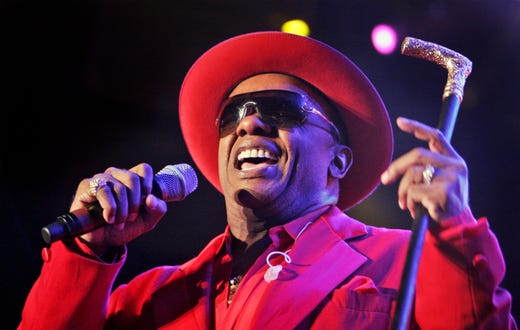 Ronald Isley of the Isley Brothers performs during the Essence Fest in the Superdome in New Orleans Thursday, July 5, 2007. This is the first Essence Festival back in New Orleans since Hurricane Katrina.(AP Photo/Alex Brandon)