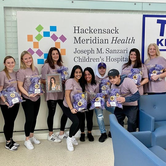 Brooke Costanzo's family and friends at their second donation location at Hackensack University Medical Center