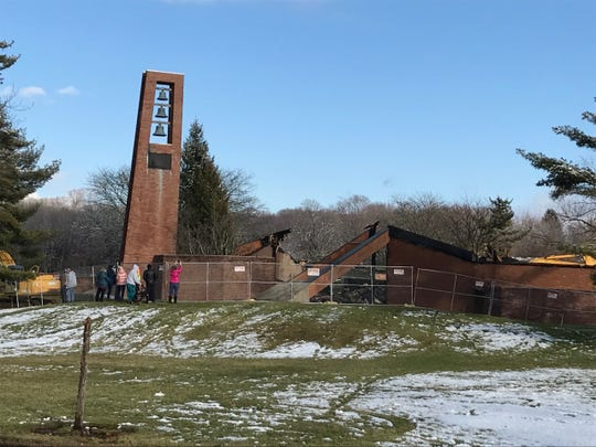 Fire destroyed Most Blessed Sacrament Church in Franklin Lakes Dec. 11.  A core committee has been established to oversee rebuilding.