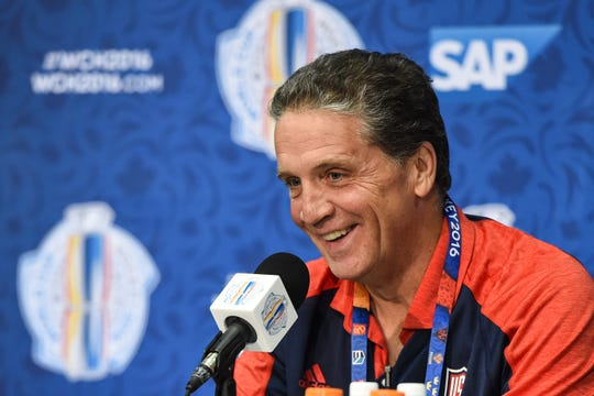 Dean Lombardi, pictured in 2016, is currently an adviser with the Philadelphia Flyers. Lombardi was the architect of the Los Angeles Kings' two Stanley Cup championships in 2012 and 2014.