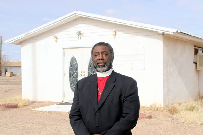 Pastor Reggie Price stands in front of the Antioch Missionary Baptist Church at 513 W. First Street in Deming, NM. The church will host a celebration of the life of Dr. Martin Luther King Jr. on Saturday, Jan. 25.