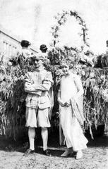 King Cotton, III J. P. Barnette and his Queen Lillian Boagni ruled over the 1924 Cotton Carnival in Opelousas.