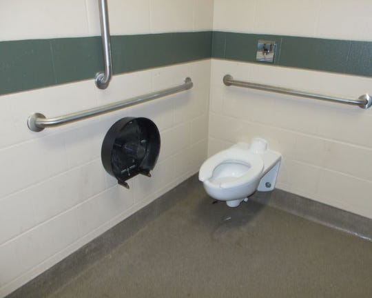 Oshkosh police are looking for information about who broke broke a toilet paper dispenser in a women's restroom Friday, Jan. 10, 2020, at Menominee Park.
