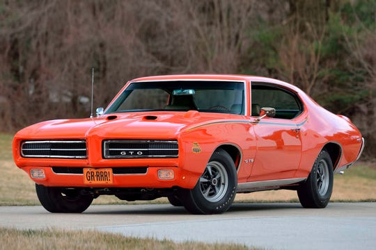 A 1969 Pontiac GTO Judge sold for $165,000 Wednesday at Barrett-Jackson, the highest selling car at the auction that day.