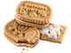 The Girl Scout S'mores cookie has chocolate and marshmallow layers.