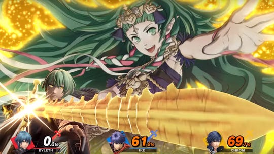 Byleth's Final Smash in Super Smash Bros. Ultimate summons Sothis to perform the Progenitor God Ruptured Heaven move.