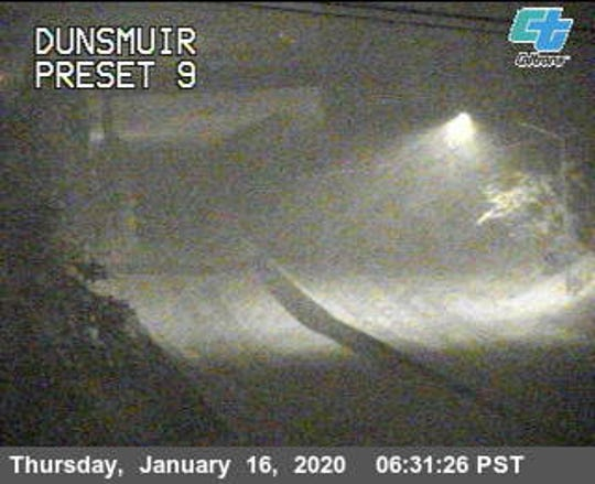 Interstate in the Dunsmuir area on Thursday morning, Jan. 16, 2020.